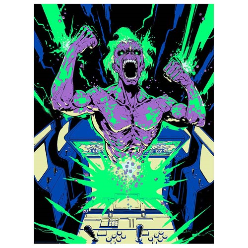 Iron Maiden Speed of Light by Santi Casas Silk Screen Art Print