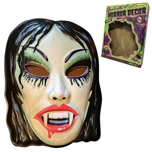 Ghoulville Vampyra Girl Vac-tastic Plastic Mask Wall Décor