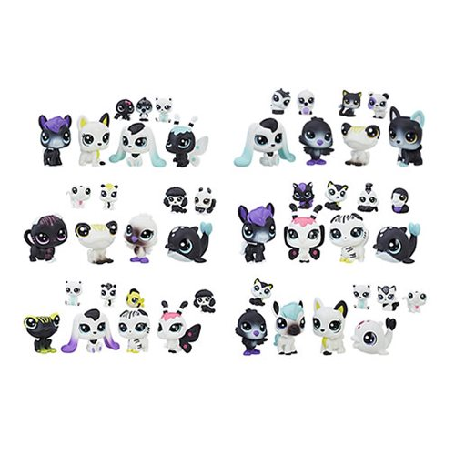 Littlest Pet Shop Black N White Friends Tubes Wave 1 Case