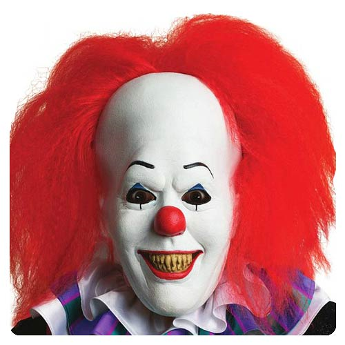 It Pennywise Overhead Latex Mask with Hair