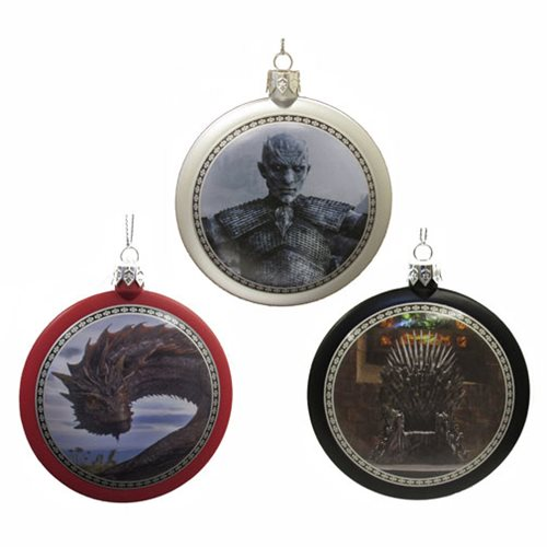 Game of Thrones 3 1/4-Inch Disc Ornament Set