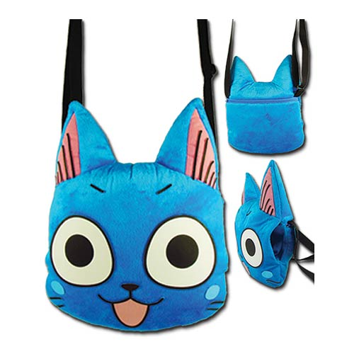 Fairy Tail Happy Head Plush Bag