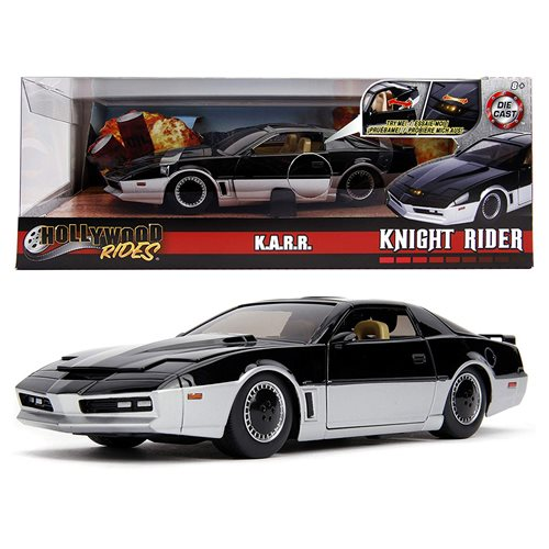 Hollywood Rides Knight Rider KARR 1982 Pontiac Trans Am 1:24 Scale Die-Cast Metal Vehicle with Lights