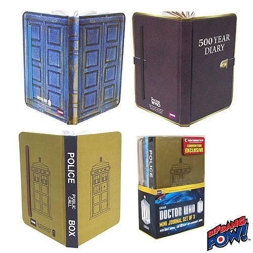 Doctor Who Mini-Journal Set of 3 - Convention Exclusive