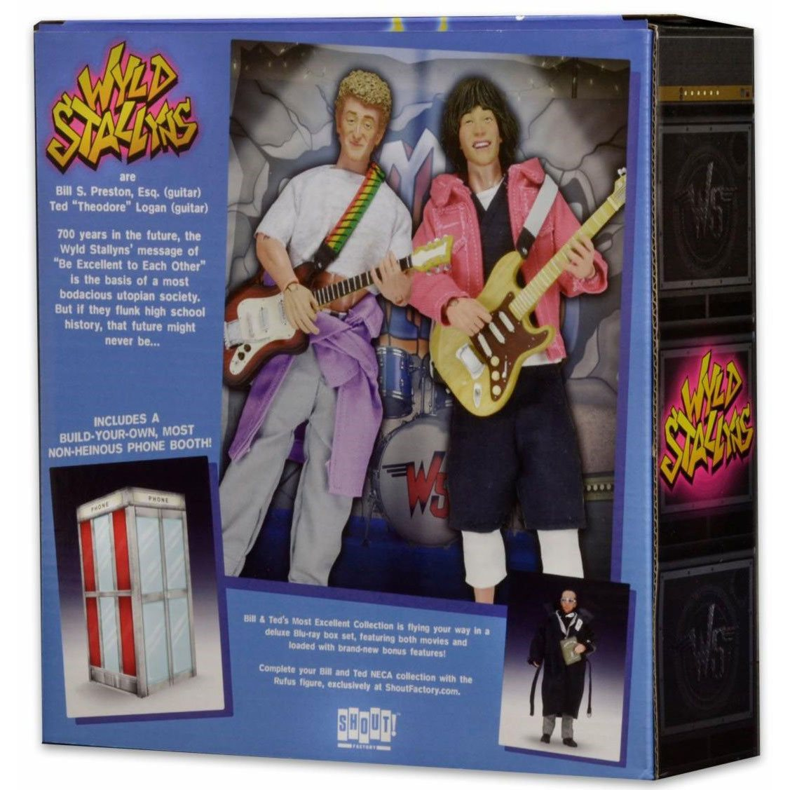 NECA Bill /& Ted/'s Excellent Adventure Bill /& Ted Clothed Action Figures