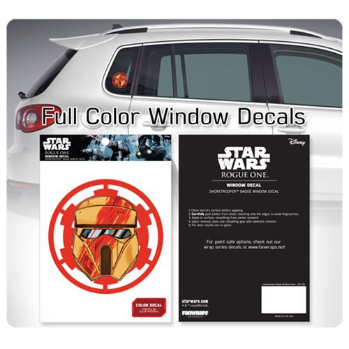 Star Wars Scarif Shoretrooper Badge Window Decal