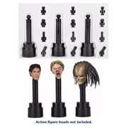Action Figure Head Black Display Stand 3-Pack