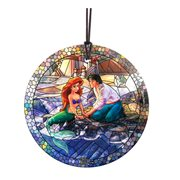 The Little Mermaid Stained Glass Effect Thomas Kinkade Starfire Prints Hanging Glass Ornament