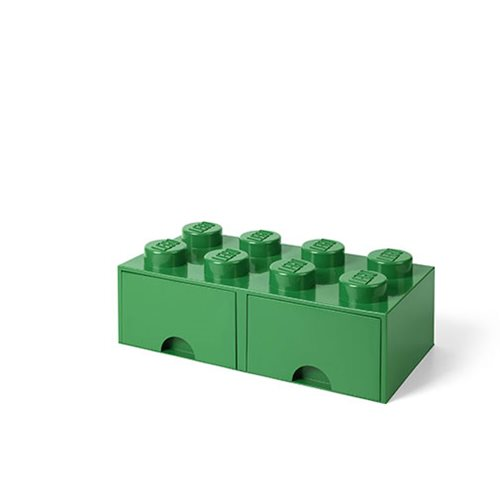 LEGO Dark Green Brick Drawer 8