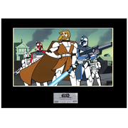 SW Clone Wars: General Kenobi Framed Sericel