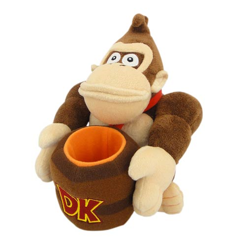 Donkey Kong with Barrel 9-Inch Plush