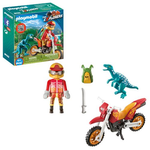 Playmobil 9431 Motocross Bike with Raptor