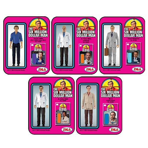 Six Million Dollar Man Wave 2 Action Figure Set