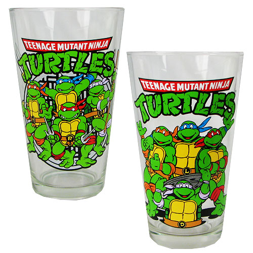 Teenage Mutant Ninja Turtles Action 16 oz. Pint Glass 2-Pack