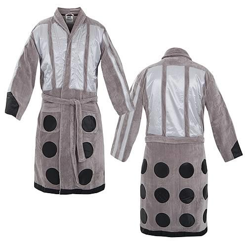 41b9801948 Doctor Who Silver Dalek Cotton Bathrobe - Entertainment Earth