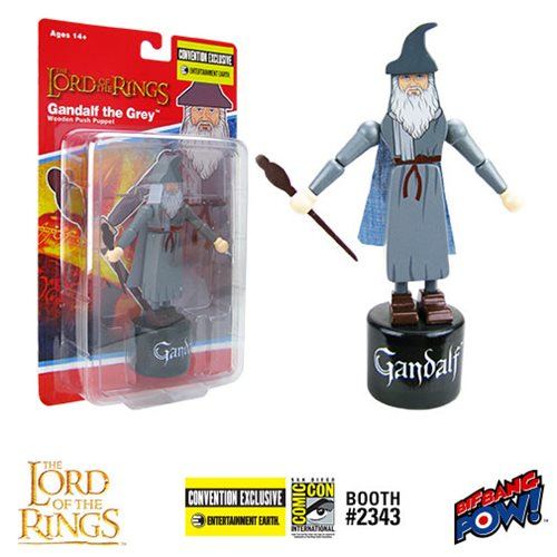 The Lord of the Rings: Fellowship of the Ring Gandalf the Grey Wooden Push Puppet - Convention Exclu