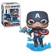 Avengers: Endgame Captain America with Broken Shield Pop! Vinyl Figure, Not Mint