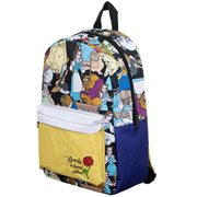 Beauty and the Beast Characters Print Backpack