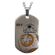 Star Wars: Episode VII - The Force Awakens BB-8 Droid Laser Etched Stainless Steel Dog Tag Pendant Necklace