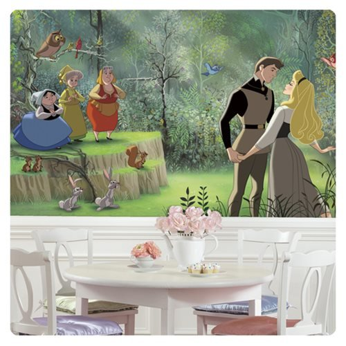 Sleeping Beauty XL Chair Rail Prepasted Mural