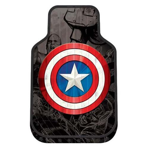 Captain America Shield Plasticlear Floor Mats