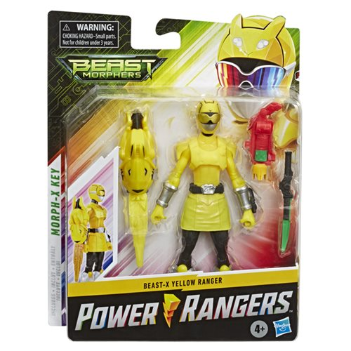 Power Rangers Beast Morphers Yellow Ranger Basic 6-Inch Action Figure