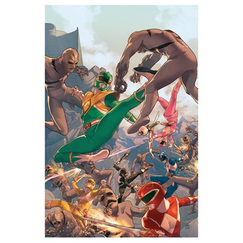 Mighty Morphin' Power Rangers Comic #1 by Jamal Campbell Lithograph Art Print