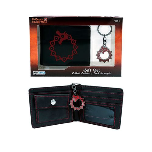 The Seven Deadly Sins Wallet and Key Chain Gift Set