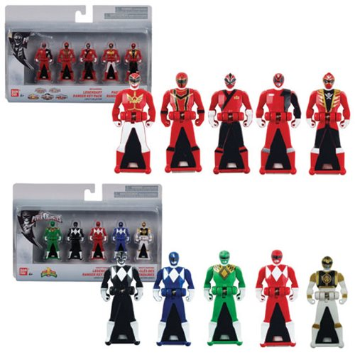 Power Rangers 25th Anniversary Ranger Keys 5-Pack Case