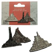 Lord of the Rings Minas Tirith and Mount Doom Collectible Pin Set