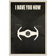 Star Wars I Have You Now Darth Vader TIE Fighter Paper Giclee Print