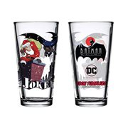 Batman: The Animated Series Santa Joker Toon Tumbler Pint Glass