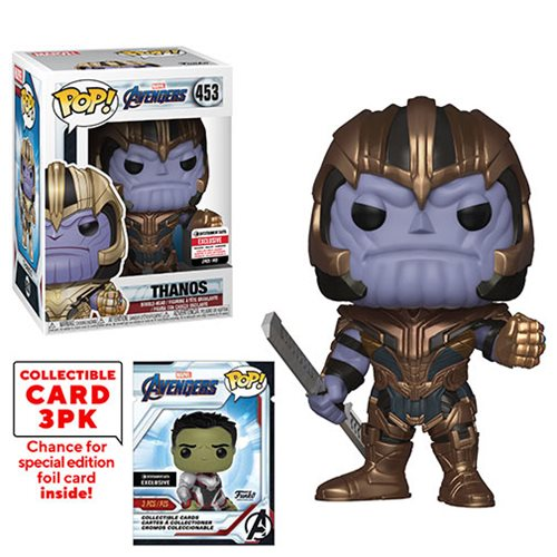 Avengers: Endgame Thanos Pop! Vinyl Figure with Collector Cards - Entertainment Earth Exclusive