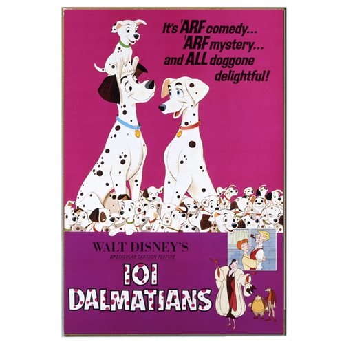 Disney 101 Dalmatians Movie Poster Wood Wall Art
