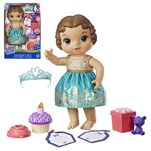 Baby Alive Cupcake Birthday Brunette Baby Doll