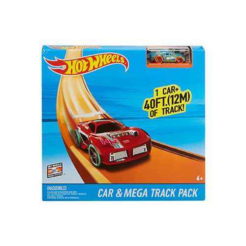 Hot Wheels Car and Mega Track Pack