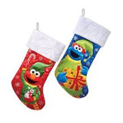 Sesame Street Elmo and Cookie Monster 19-Inch Stocking Set