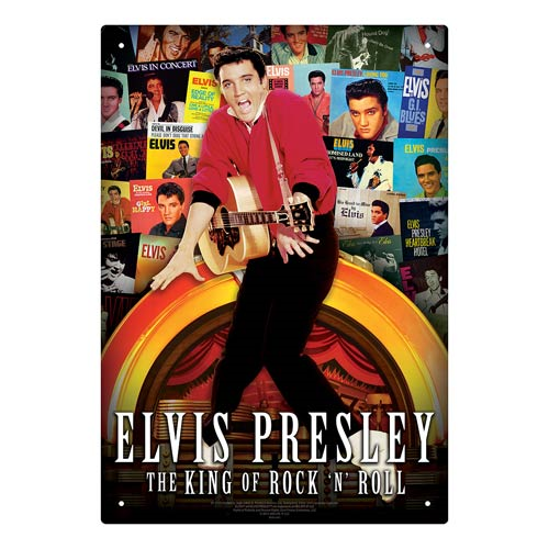 Elvis Presley Albums Tin Sign