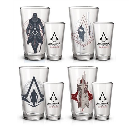 Assassin's Creed Syndicate Pint Glass 4-Pack