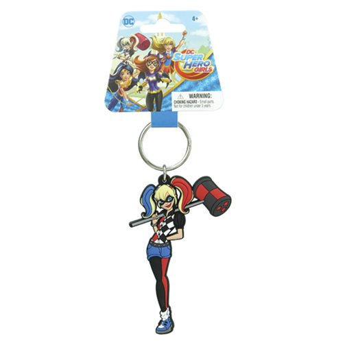 Super Hero Girls Harley Quinn Soft Touch Key Chain