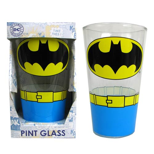 Batman Uniform 16 oz. Pint Glass