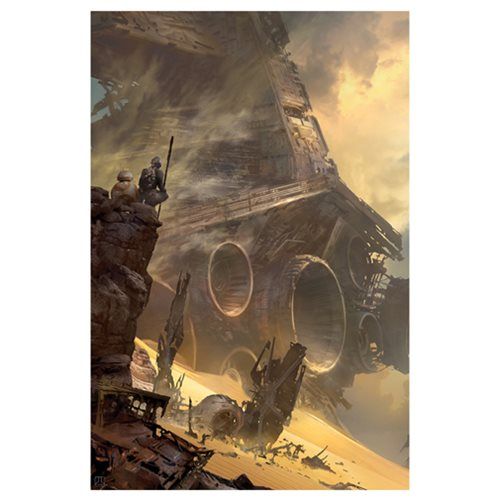 Star Wars: The Force Awakens TIE Fighter Down by Stephan Martiniere Canvas Giclee Art Print