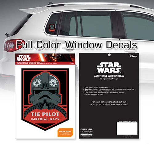 Star Wars TIE Pilot Imperial Navy Badge Window Decal