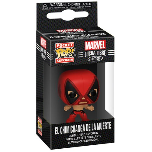 Marvel Luchadores El Chimichanga De La Muerte Deadpool Pocket Pop! Key Chain