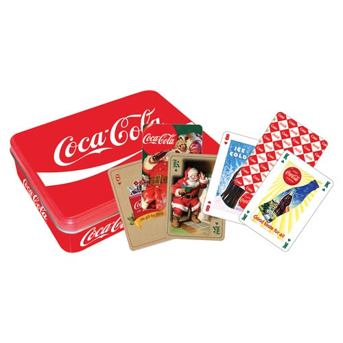 Coca-Cola Red Playing Card Tin