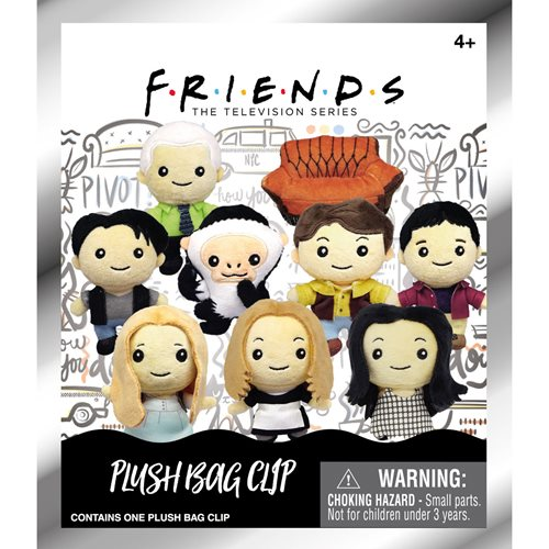 Friends Plush Bag Clip  Random 6-Pack