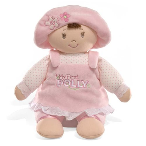 My First Dolly Brunette 14-Inch Doll Plush