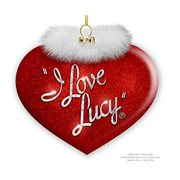 I Love Lucy Heart with Boa Glass Ornament