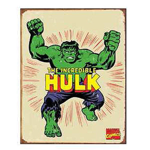 The Incredible Hulk Marvel Comics Retro Tin Sign