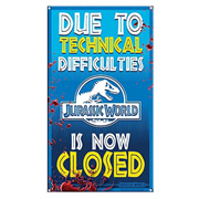 Jurassic World Ride Closed Medium Metal Sign